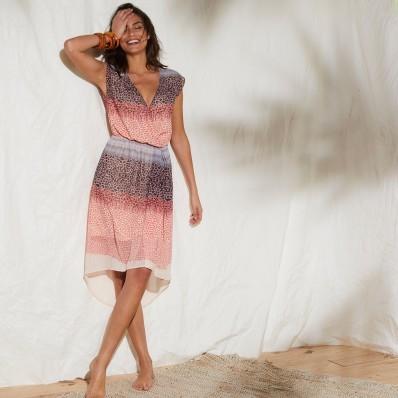 Šaty s překřížením a potiskem