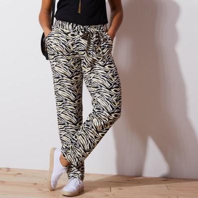 Kalhoty se zavázáním, tropický design
