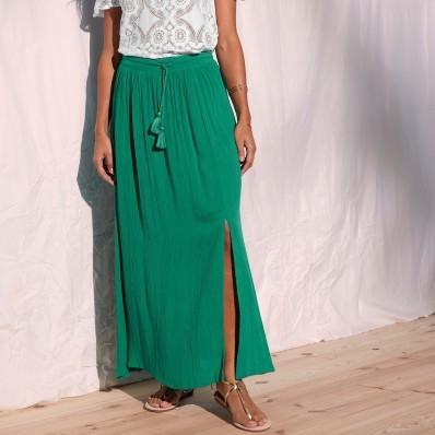 Kreponová sukně, jednobarevná