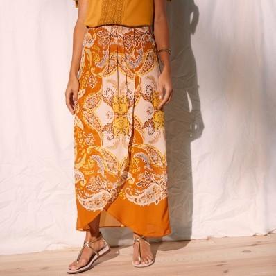 Pouzdrová sukně s potiskem