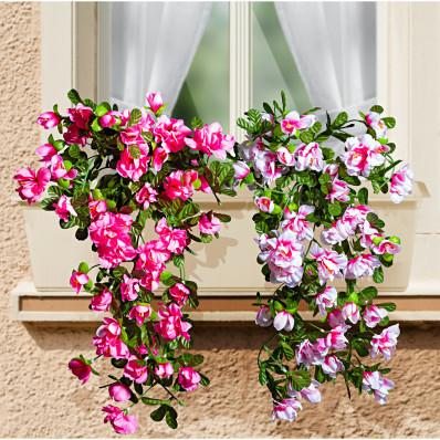 Závesná kytica azaliek, ružová