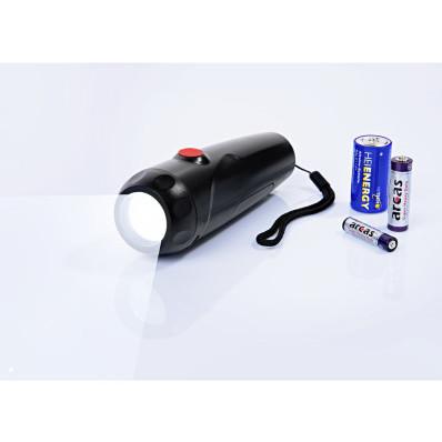 Vreckové svietidlo na všetky batérie