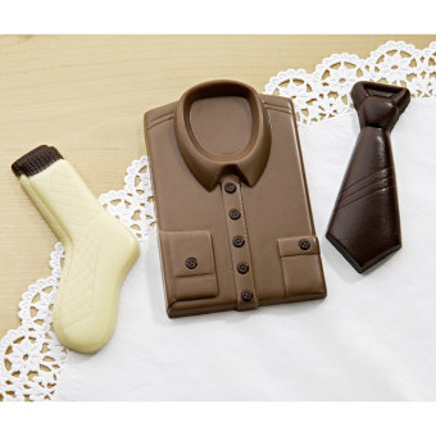 """3dílná čokoládová sada """"Pánský oděv"""""""