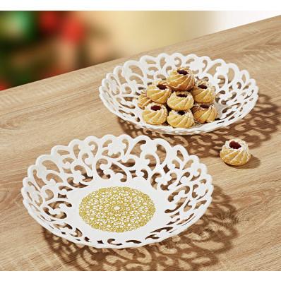 """Servírovací talíř """"Zlatá rozeta"""""""