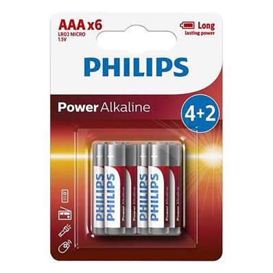 Elemek Philips 4+2 AAA (1,5V)