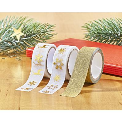 """3 lepicí pásky """"Vánoce"""""""