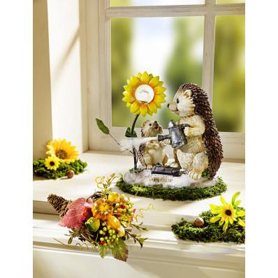 Ježko so solárnou kvetinou