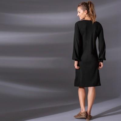 Pletené šaty, jednobarevné