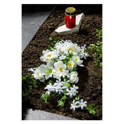Sírcsokor fehér virágokkal