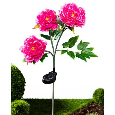 Solárna pivonka s 3 kvetmi