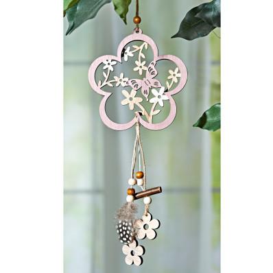 Závěsná dekorace květina s motýlem