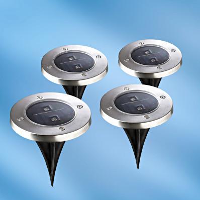 4 solárne bodové svetlá