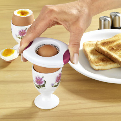 Oddeľovač vaječných škrupín, biela - červená