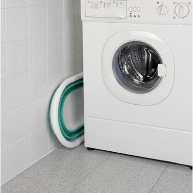 Skládací koš na prádlo, tyrkysová