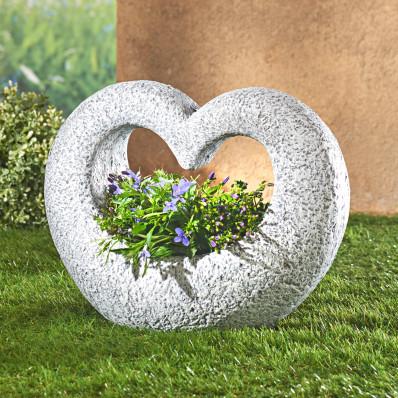 """Dekorácia na hrob """"Kvetinové srdce"""""""