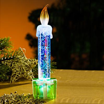 LED svíčka, zelená