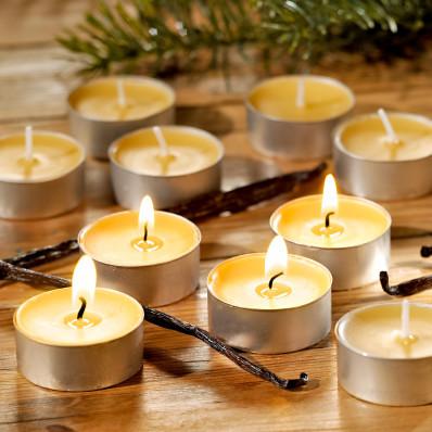 Svíčky čajové vonné,6 ks, vanilka