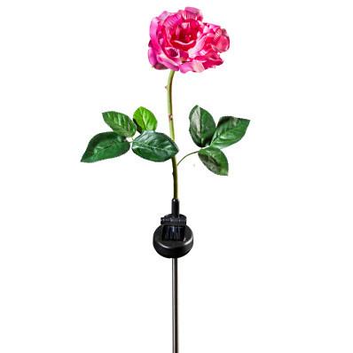 """Solární světlo """"Růže"""", růžovo-bílá"""