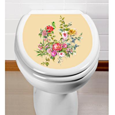 """Samolepka na veko WC """"Kvety"""""""