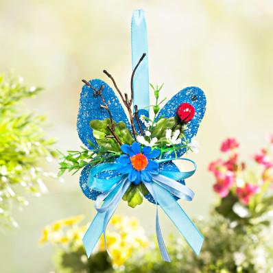 Motýl sisal, modrá