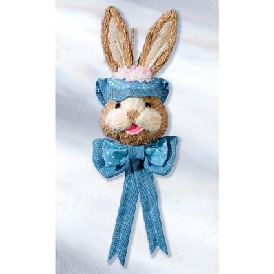 """Dekorácia na dvere """"Zajac"""", modrá"""