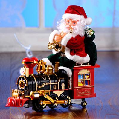 """Dekorace """"Santa Claus na lokomotivě"""""""