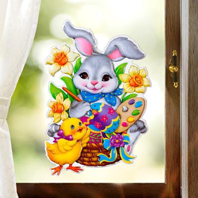 """Obrázok na okno """"Zajac maliarom"""""""