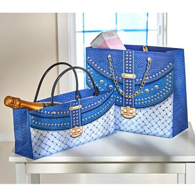 2 dárkové tašky, modrá