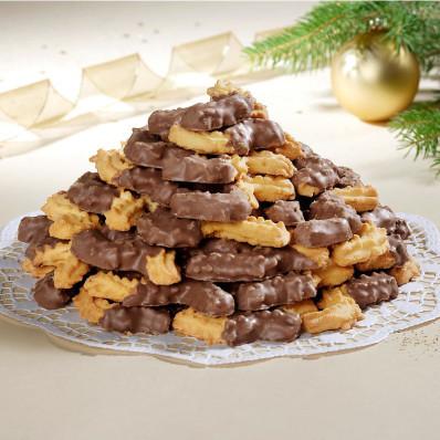 Čokoládové striekané pečivo