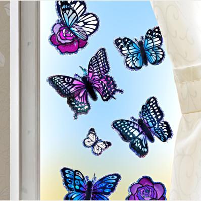 "8 nálepiek ""Motýle"""