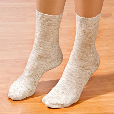 5 párů ponožek se lnem