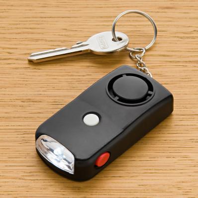 LED-es kulcstartó riasztóval