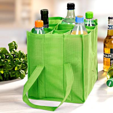 Taška na fľaše, zelená