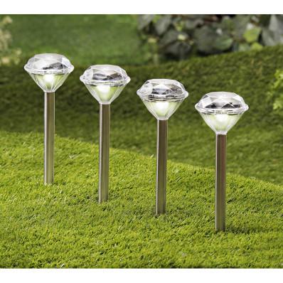 "2 solární lampy ""Diamant"""