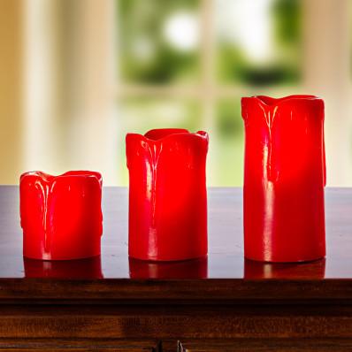 LED-gyertya, piros