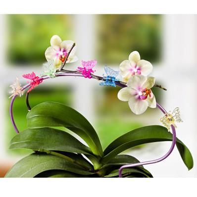 """6 kvetinových klipsov """"Motýľ"""""""
