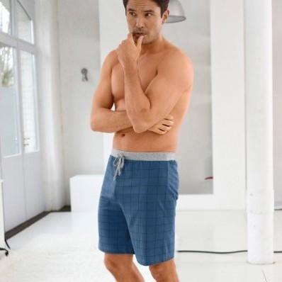 Pyžamové šortky kostkované/ s potiskem, sada 2 ks