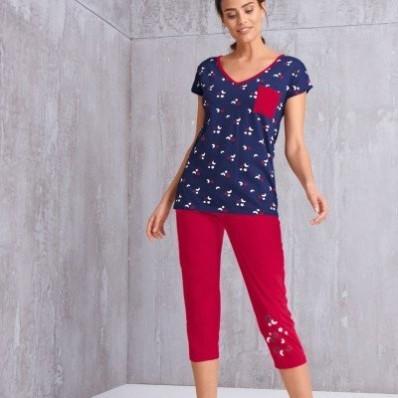 3/4 pyžamové kalhoty s motivem hvězdiček