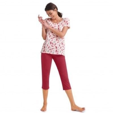 Pyžamo s 3/4 nohavicami a krátkymi rukávmi