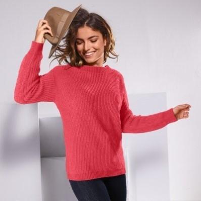 Žinylkový pulovr s kulatým vzorem