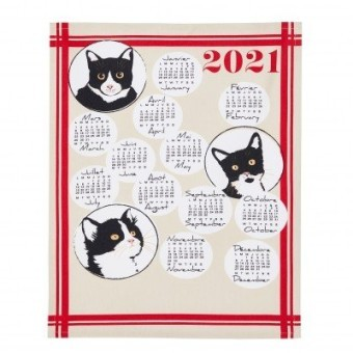 Utěrka s potiskem kalendáře 2021, sada 3 ks