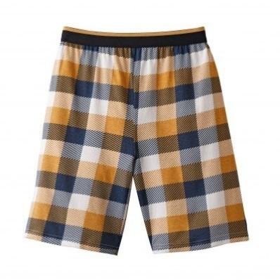 Pyžamové šortky, kostkovaný vzor