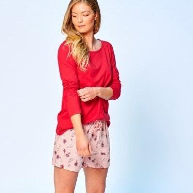 Pyžamové šortky s květinovým vzorem
