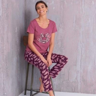 Pyžamo s motivem tygra, krátké rukávy