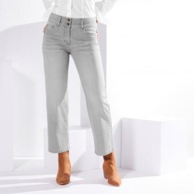 Rovné skrátené džínsy