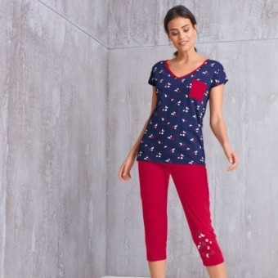 Pyžamové tričko s potiskem a krátkými rukávy