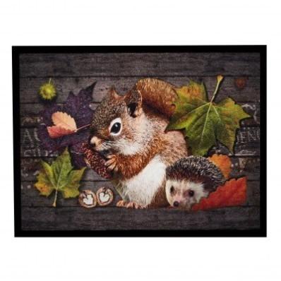 Rohožka smotivem veverky a ježka