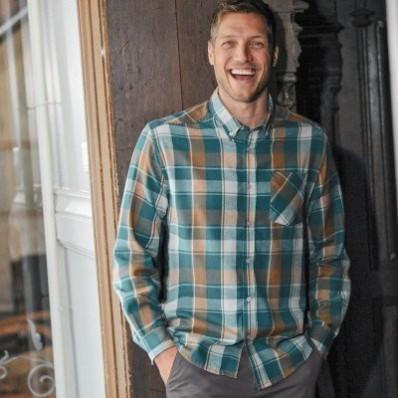 Flanelová kostkovaná košile s dlouhými rukávy