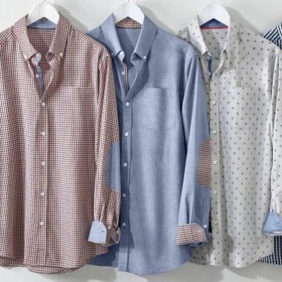 Košile s vichy vzorem a kontrastními lokty