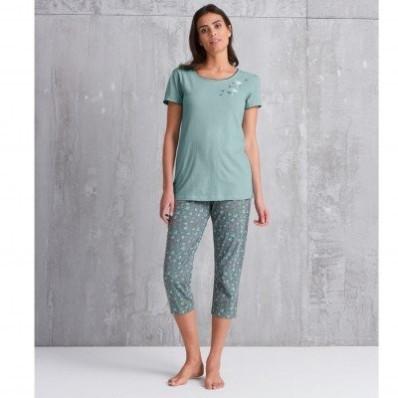 3/4 pyžamové kalhoty s potiskem květin